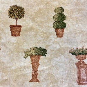 "Waverly  "" TERRA COTTA""  Tan Green Topiary Potted"